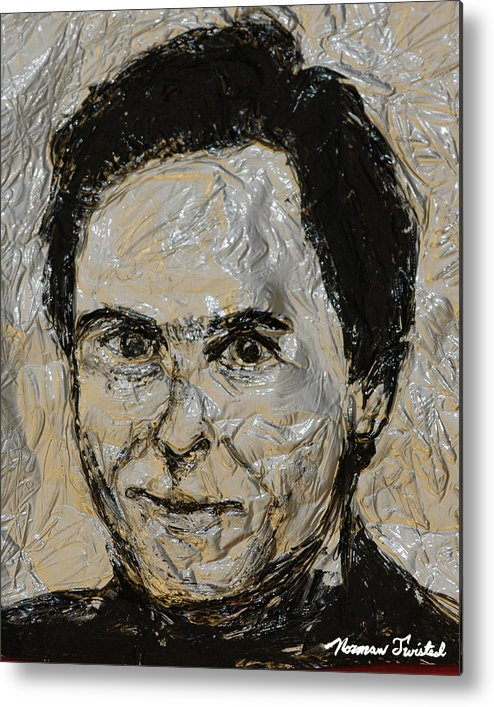 Ted Bundy Metal Print featuring the painting Ted Bundy In Black And White by Norman Twisted