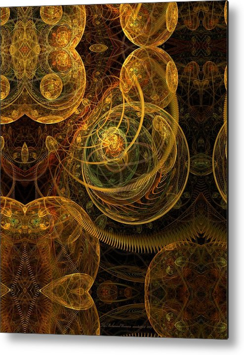 Fractal Metal Print featuring the digital art The Mechanical Universe by Gayle Odsather