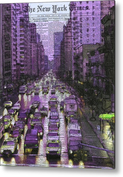 New York Metal Print featuring the mixed media The New York Times by Francis Chapman