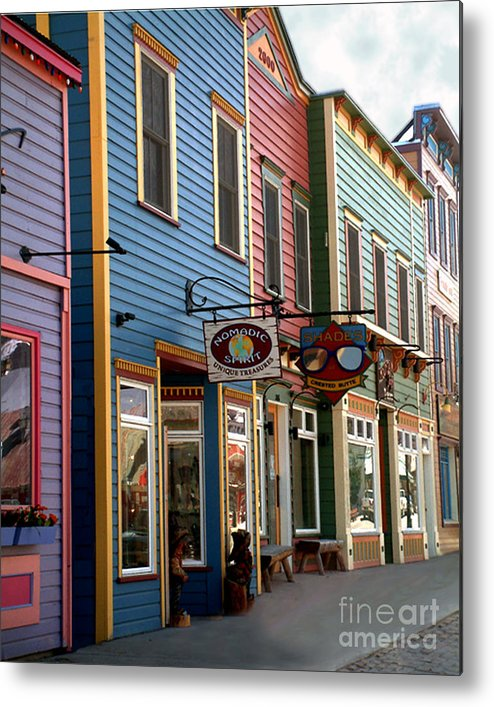 Landscape Metal Print featuring the photograph The Shops In Crested Butte by RC DeWinter