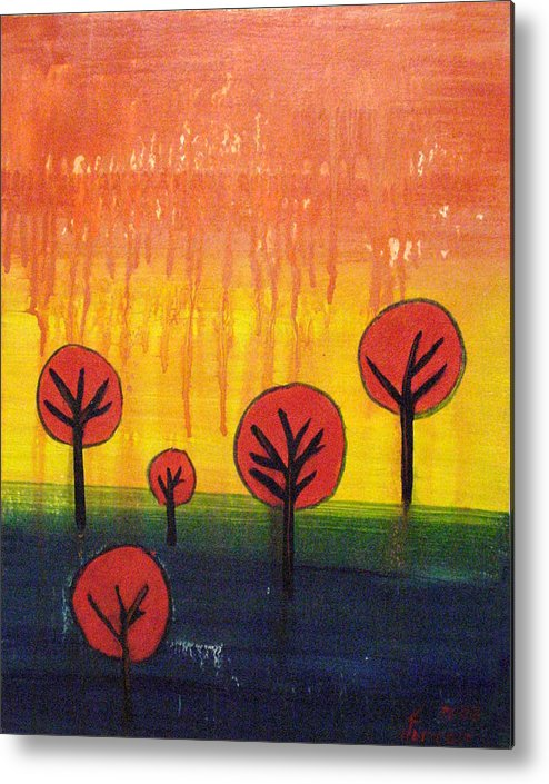 Fall Metal Print featuring the mixed media The Sky Is Falling by Kenny Henson