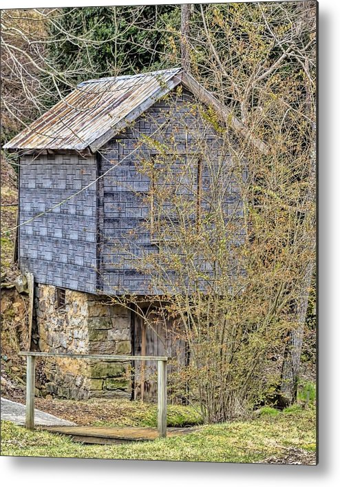 Spring House Metal Print featuring the photograph The Spring House by Ann Allison-Cote'