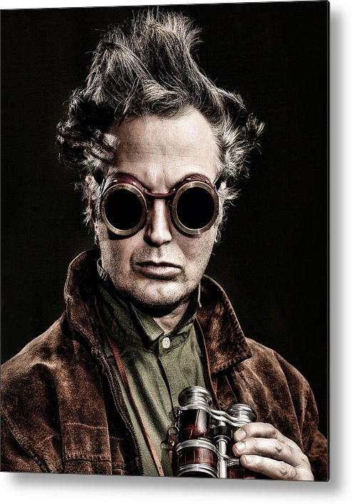 Steampunk Metal Print featuring the photograph The Steampunk - Sci-fi by Gary Heller