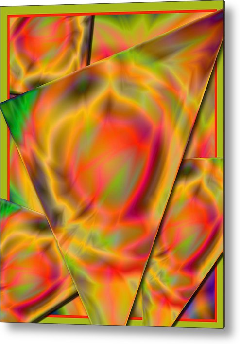 Abstract Art Work Metal Print featuring the digital art Trosangle by Mark Compton