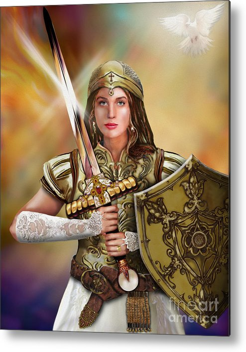 Bride Of Christ Metal Print featuring the painting Warrior Bride Of Christ by Todd L Thomas