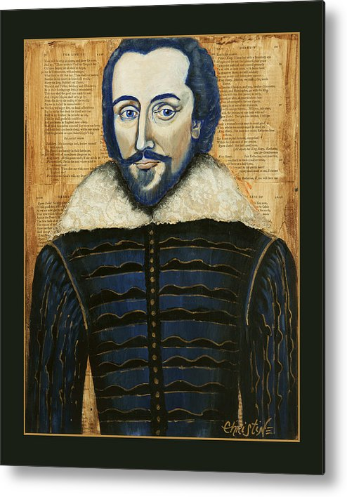 Shakespeare Metal Print featuring the painting We Happy Few by Christine Marie Rose