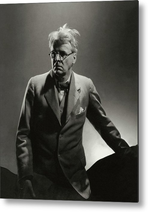 Literary Metal Print featuring the photograph William Butler Yeats Wearing A Three-piece Suit by Edward Steichen