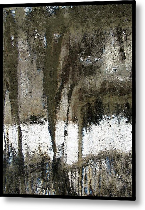 Winter Abstract Brown Black White Metal Print featuring the photograph Winter Abstract by Jeane Shaw