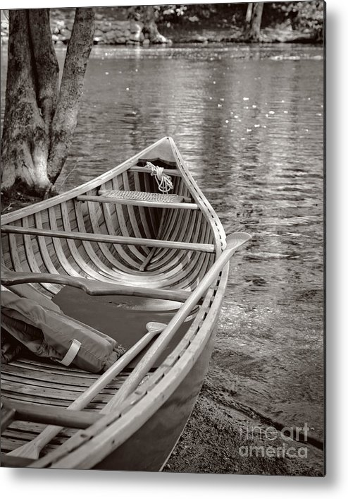 Canoe Metal Print featuring the photograph Wooden Canoe by Edward Fielding