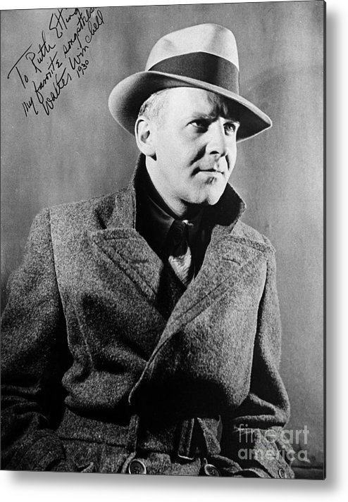 1940 Metal Print featuring the photograph Walter Winchell (1897-1972) by Granger
