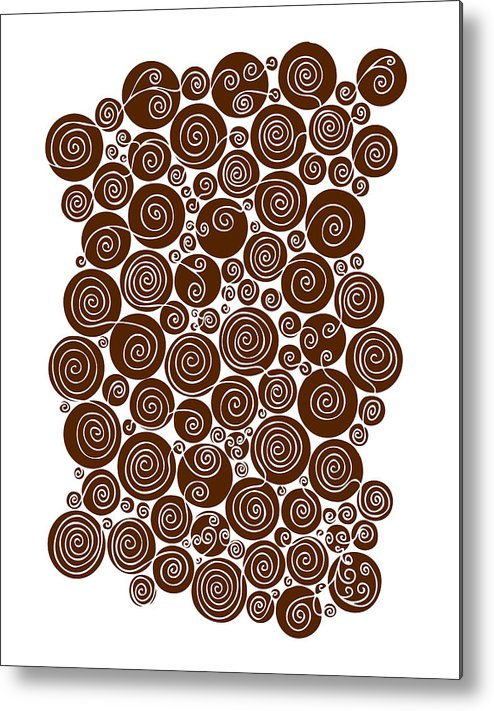 Brown Metal Print featuring the painting Brown Abstract by Frank Tschakert