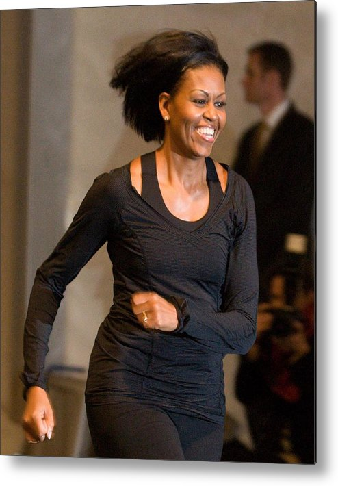 Michelle Obama Metal Print featuring the photograph Michelle Obama At A Public Appearance by Everett