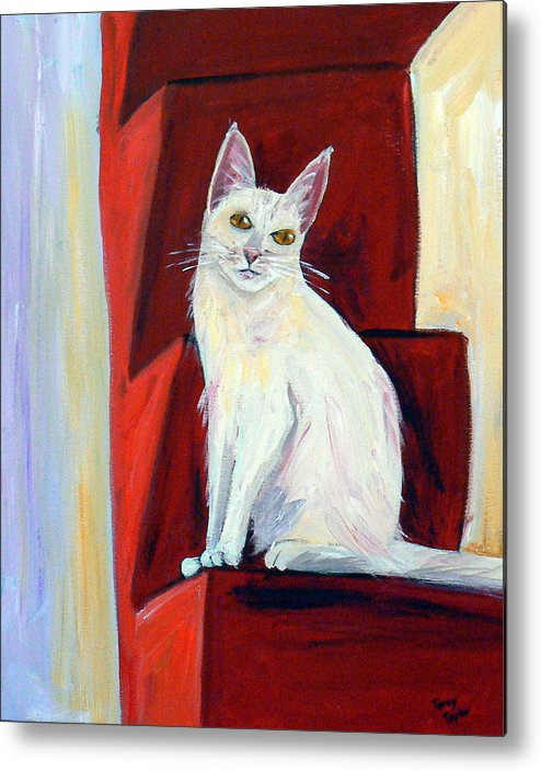 Cat Metal Print featuring the painting Abigail by Terry Taylor