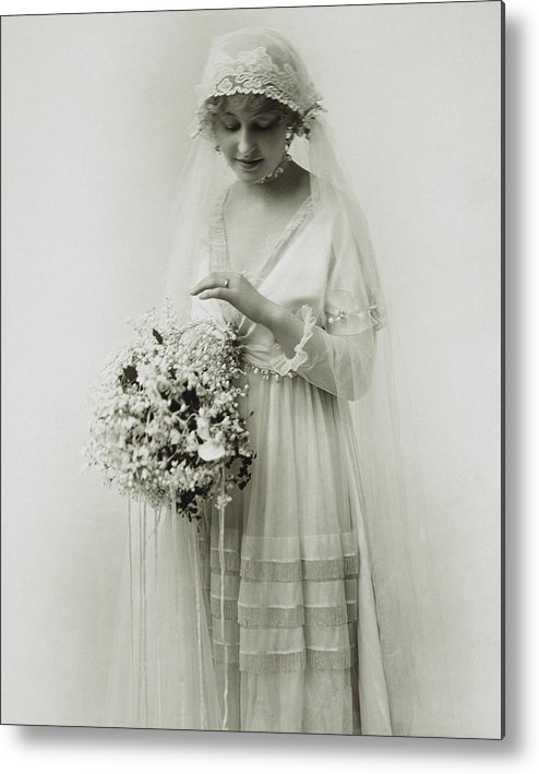 1925 Metal Print featuring the photograph American Bride, C1925 by Granger