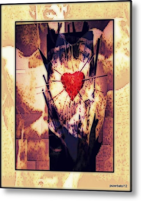 Heart Metal Print featuring the digital art Awareness In Potential State by Paulo Zerbato