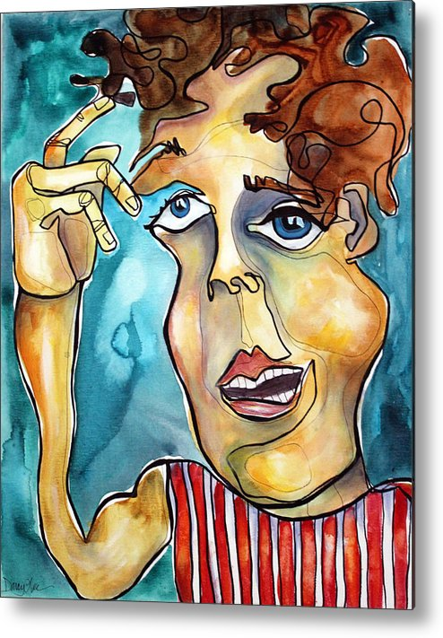 Portrait Metal Print featuring the painting Bucko by Darcy Lee Saxton