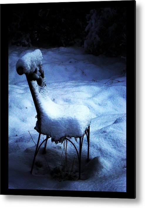 Winter Metal Print featuring the photograph By The Light Of The Moon by Susanne Still