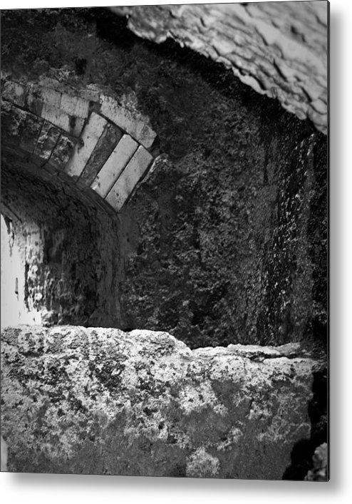 Urban Exploration Metal Print featuring the photograph Caving In by April Davis