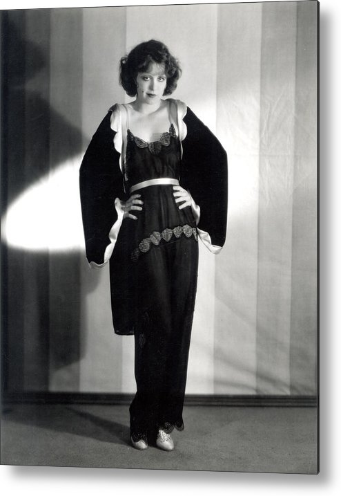 1920s Metal Print featuring the photograph Clara Bow, Around 1929 by Everett