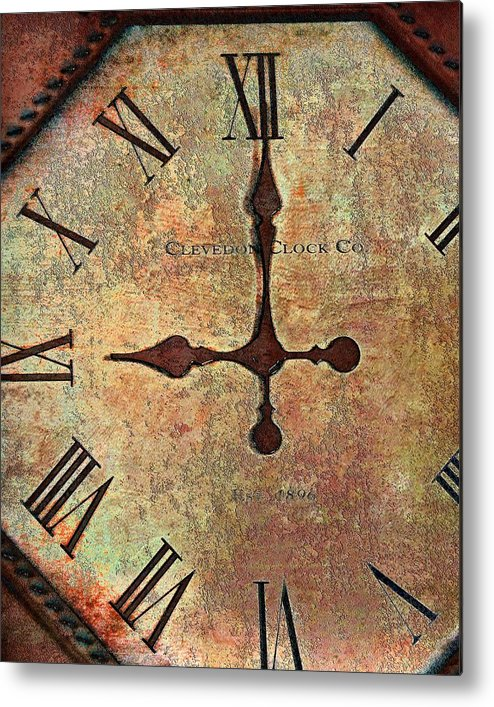 Time Metal Print featuring the photograph Clevedon Clock by Robert Smith