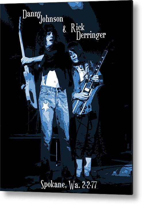 Derringer Metal Print featuring the photograph D J And R D Playing The Blues 1977 by Ben Upham