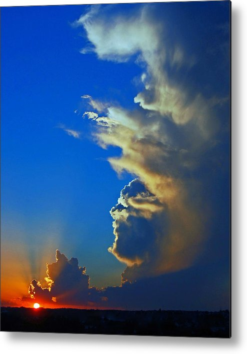 Landscapes Metal Print featuring the photograph Day's End. by Randall Templeton