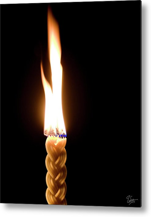 Endre Metal Print featuring the photograph Havdallah Candle by Endre Balogh