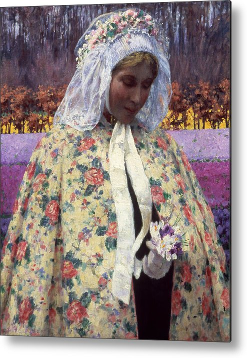 1900 Metal Print featuring the photograph Hitchcock: The Bride, 1900 by Granger