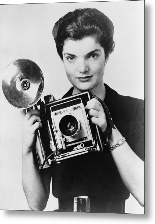 1950s Metal Print featuring the photograph Jacqueline Bouvier As The Inquiring by Everett