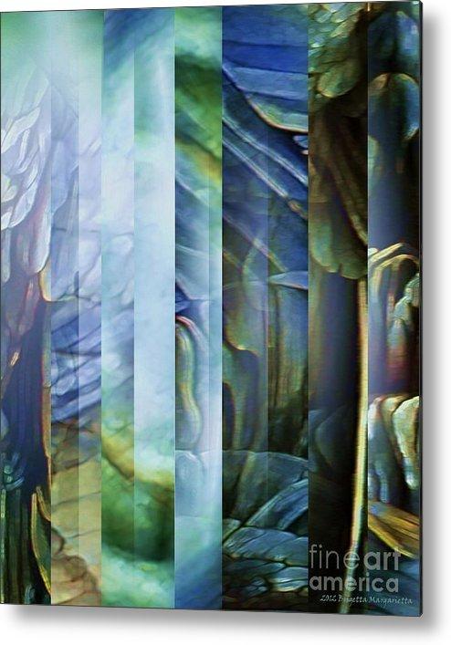 Blue Metal Print featuring the digital art Journey Inward 1 by Brigetta Margarietta