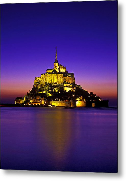 Vertical Metal Print featuring the photograph Le Mont Saint-michel, Normandy, France by Hans-Peter Merten