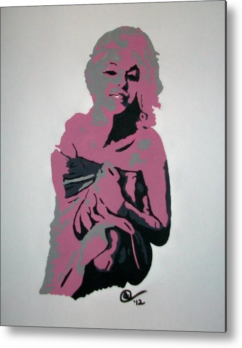 Marilyn Monroe Metal Print featuring the painting Marilyn Monroe 2 by Ashley Whitaker