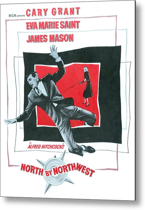 1950s Movies Metal Print featuring the photograph North By Northwest, Cary Grant, Eva by Everett