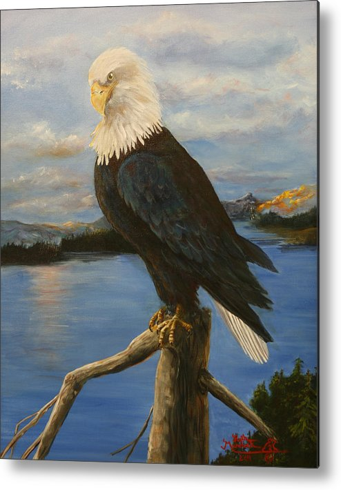 American Metal Print featuring the painting Portrait Of An American by Ruth Ann Murdock