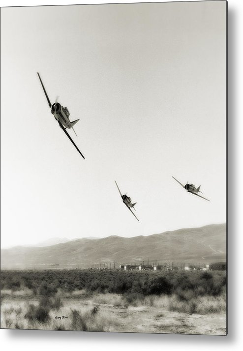 Air Race Metal Print featuring the photograph Reno Air Races 1970s by Gary Rose