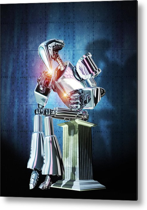 Equipment Metal Print featuring the photograph Robot Intelligence by Victor Habbick Visions