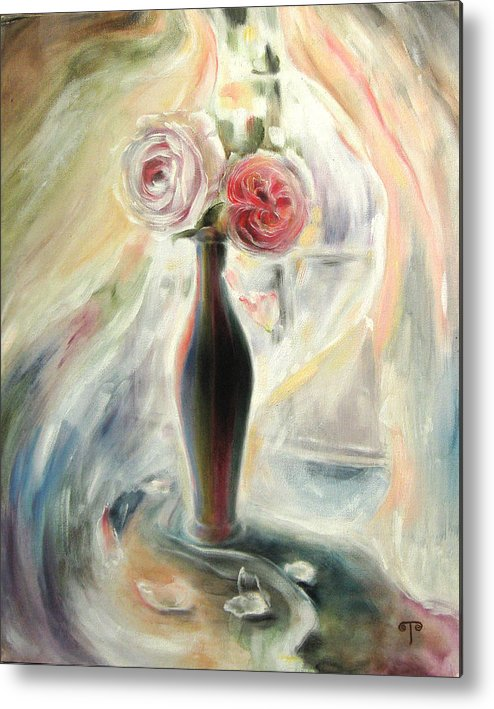 Roses Metal Print featuring the painting Summer Flowers by Tanya Byrd
