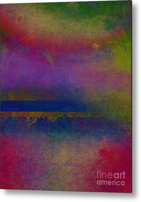 Sunrise Earth Metal Print featuring the mixed media Sunrise Earth by Ricki Mountain