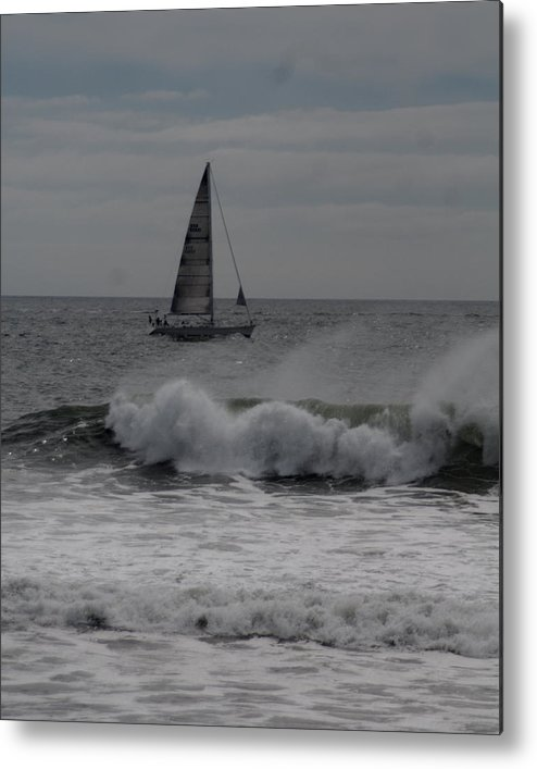 Surf Metal Print featuring the photograph Surf And Sail by Barry Doherty