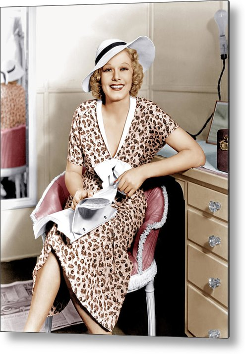 1930s Movies Metal Print featuring the photograph Suzy, Jean Harlow, 1936 by Everett