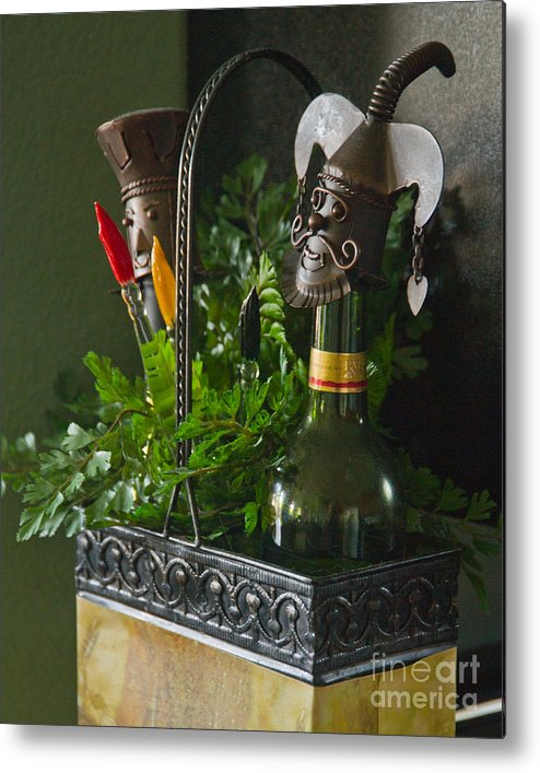 Bottle Metal Print featuring the photograph The Cork Jester by Michael Flood