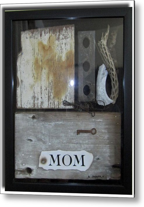 Sculpture Metal Print featuring the sculpture Tribute To Mom by Snake Jagger