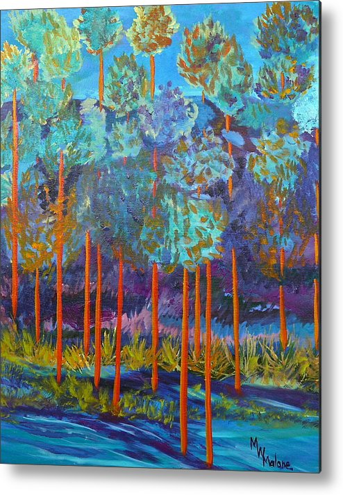 Canyon Metal Print featuring the painting Twilight In The Canyon by Mark Malone