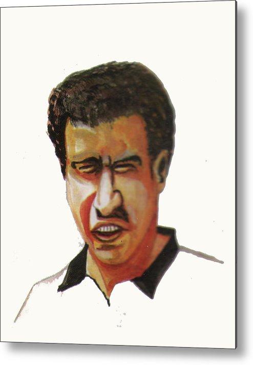 Sports Metal Print featuring the painting Younes El Aynaoui by Emmanuel Baliyanga