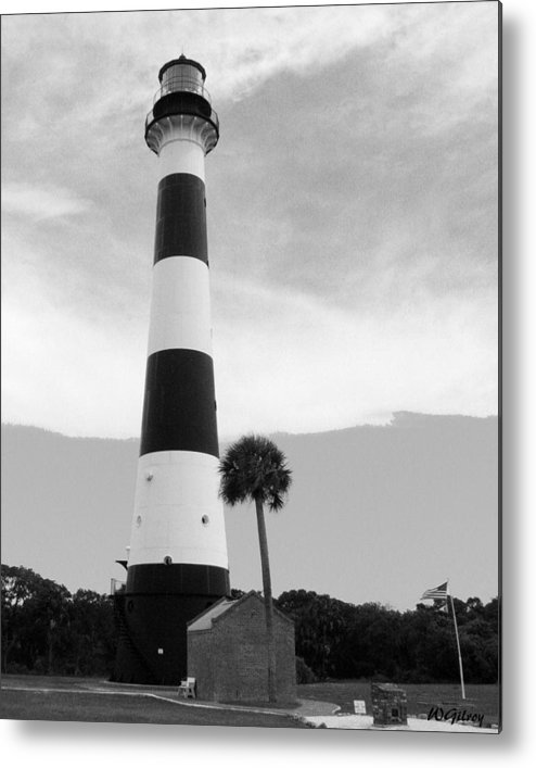 Lighthouse Metal Print featuring the photograph Canaveral Lighthouse by W Gilroy