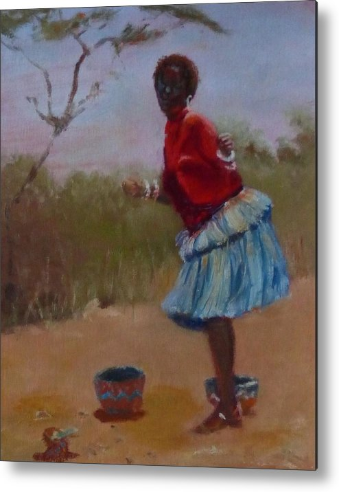 Africa Metal Print featuring the painting Casual Dancing by Irena Jablonski
