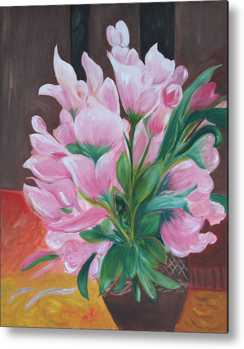 Flowers Metal Print featuring the painting Flowers by Taly Bar