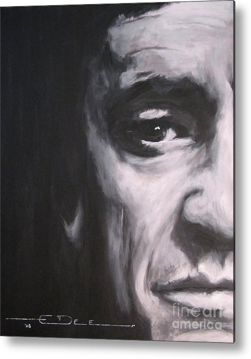 Johnny Cash Metal Print featuring the painting Johnny Cash 2 by Eric Dee
