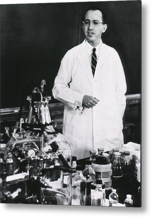 History Metal Print featuring the photograph Jonas E. Salk 1914-1995, American by Everett