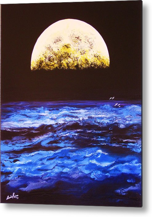 Contemporain Sea Metal Print featuring the painting Le Voyage by Annie Rioux